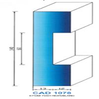 CAD1078N Profil EPDM   70 SH Noir