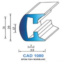 CAD1080B Profil EPDM   70 SH Blanc