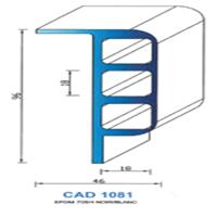 CAD1081N Profil EPDM <br /> 70 SH Noir<br />