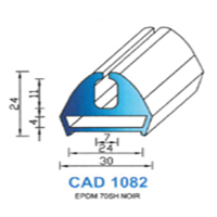 CAD1082N Profil EPDM   70 SH Noir