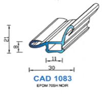 CAD1083N Profil EPDM   70 SH Noir