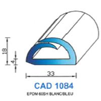 CAD1084B Profil EPDM   60 SH Blanc