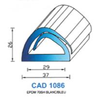 CAD1086B Profil EPDM   70 SH Blanc