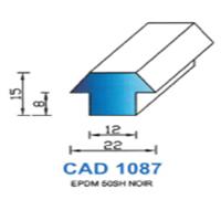 CAD1087N Profil EPDM   50 SH Noir