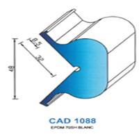 CAD1088B Profil EPDM <br /> 70 SH Blanc<br />