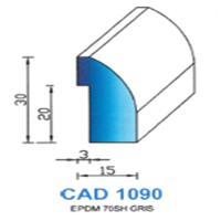 CAD1090G Profil EPDM <br /> 70 SH Gris<br />