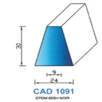 CAD1091N Profil EPDM   65 SH Noir