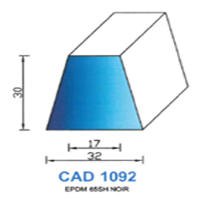 CAD1092N Profil EPDM   65 SH Noir