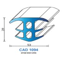 CAD1094N Profil EPDM <br /> 65 SH Gris<br />