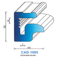 CAD1095B Profil EPDM   65 SH Blanc