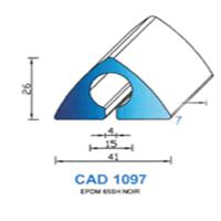 CAD1097N Profil EPDM   65 SH Noir
