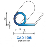 CAD1098N Profil EPDM   65 SH Noir