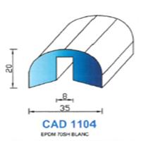 CAD1104B Profil EPDM   70 SH Blanc