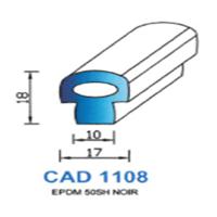 CAD1108N Profil EPDM   50 SH Noir