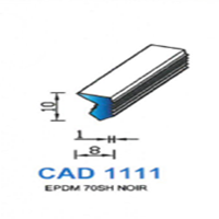 CAD1111N Profil EPDM   70 SH Noir