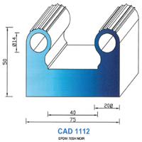 CAD1112N Profil EPDM   70 SH Noir