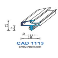 CAD1113N Profil EPDM   70 SH Noir
