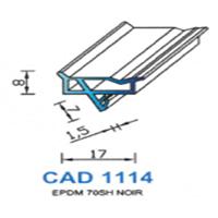 CAD1114N Profil EPDM   70 SH Noir