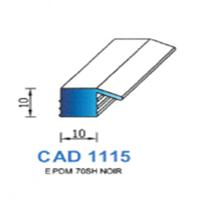 CAD1115N Profil EPDM   70 SH Noir