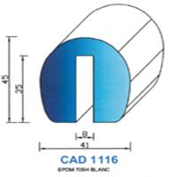 CAD1116B Profil EPDM   70 SH Blanc
