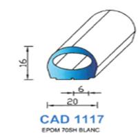 CAD1117B Profil EPDM   70 SH Blanc