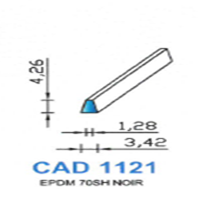 CAD1121N Profil EPDM   70 SH Noir