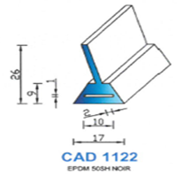 CAD1122N Profil EPDM   50 SH Noir