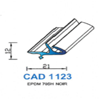 CAD1123N Profil EPDM   70 SH Noir