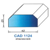 CAD1124N Profil EPDM   50 SH Noir