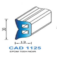CAD1125N Profil EPDM   70 SH Noir