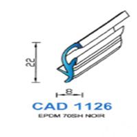 CAD1126N Profil EPDM   70 SH Noir