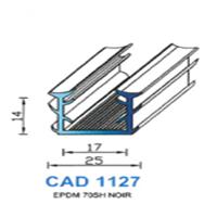CAD1127N Profil EPDM   70 SH Noir