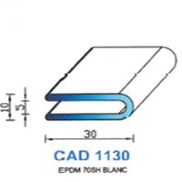 CAD1130B Profil EPDM   70 SH Blanc