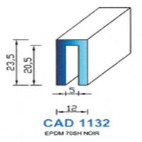 CAD1132N Profil EPDM   70 SH Noir