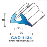 CAD1134N Profil EPDM <br /> 70 SH Noir<br />