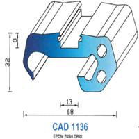 CAD1136G Profil EPDM   70 SH Gris