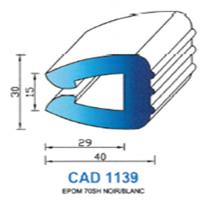 CAD1139N Profil EPDM   70 SH Noir