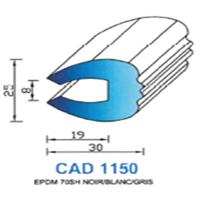 CAD1150B Profil EPDM   70 SH Blanc   Vendu au Mètre