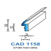 CAD1158G Profil EPDM   70 SH Gris