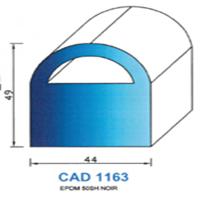 CAD1163N Profil EPDM <br /> 50 SH Noir<br />