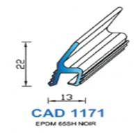 CAD1171N Profil EPDM   70 SH Noir