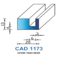 CAD1173N Profil EPDM   70 SH Noir