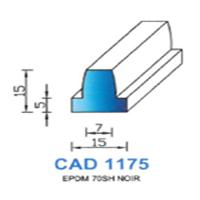 CAD1175N Profil EPDM   70 SH Noir