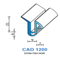 CAD1200N Profil EPDM   70 SH Noir