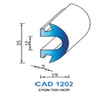 CAD1202N Profil EPDM   70 SH Noir