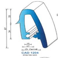 CAD1204N Profil EPDM   70 SH Noir