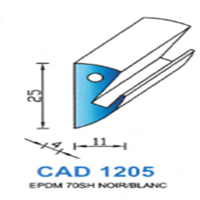 CAD1205N Profil EPDM <br /> 70 SH Noir<br />