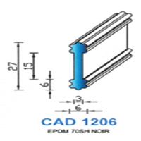 CAD1206N Profil EPDM   70 SH Noir