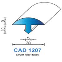 CAD1207N Profil EPDM   70 SH Noir
