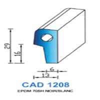 CAD1208N Profil EPDM <br /> 70 SH Noir<br />